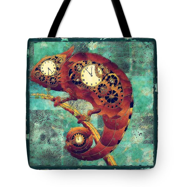 Chameleon - Aff01a Tote Bag by Variance Collections