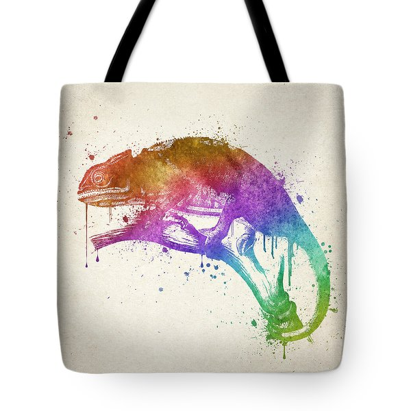 Chameleon Splash Tote Bag by Aged Pixel