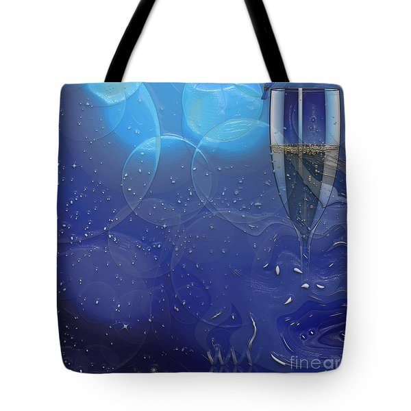 Champagne Blue  Tote Bag by Liane Wright