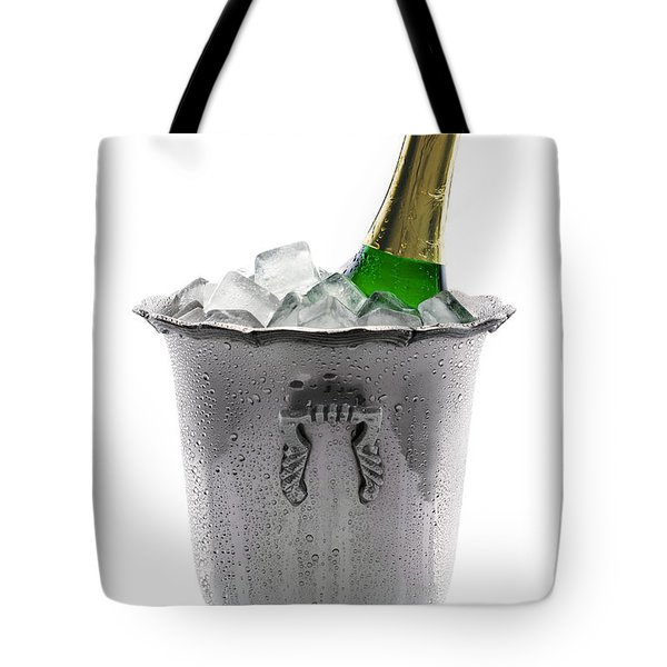 Champagne Bottle On Ice Tote Bag