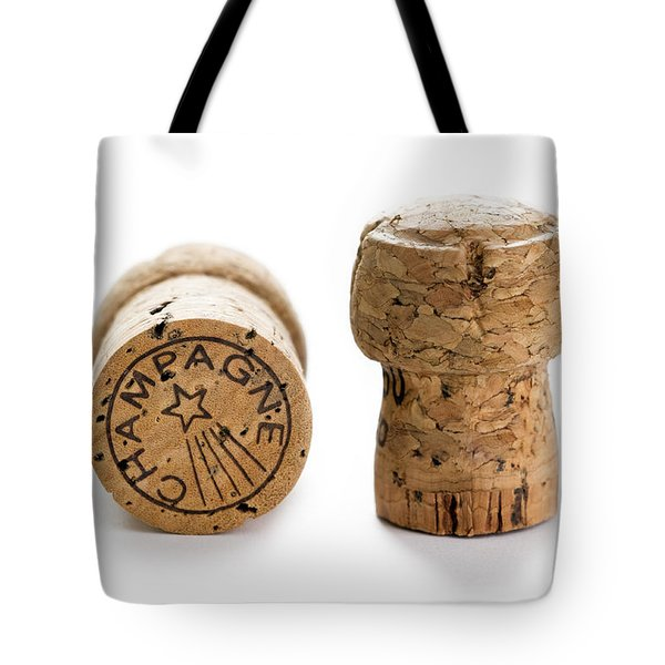 Tote Bag featuring the photograph Champagne Corks by Lee Avison