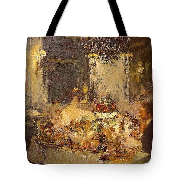 Champagne Tote Bag by Gaston La Touche