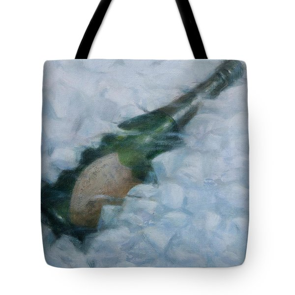 Champagne On Ice Tote Bag