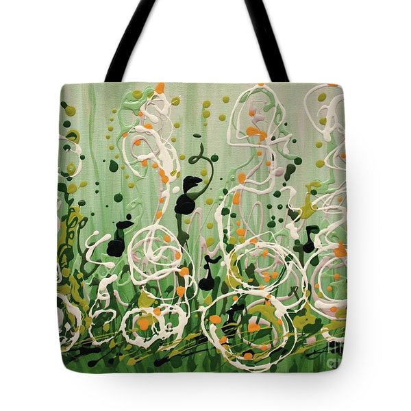 Tote Bag featuring the painting Champagne Symphony by Holly Carmichael