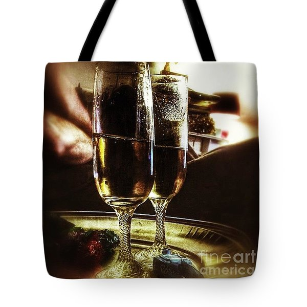 Champers 'hic' #christmas Tote Bag