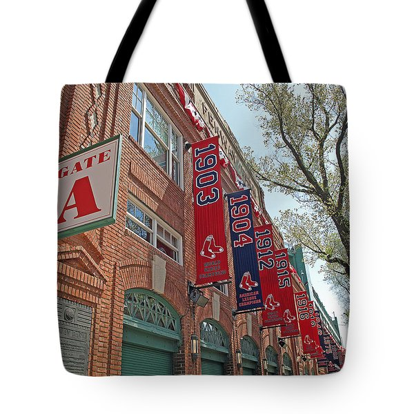 Championship Banners Tote Bag by Barbara McDevitt