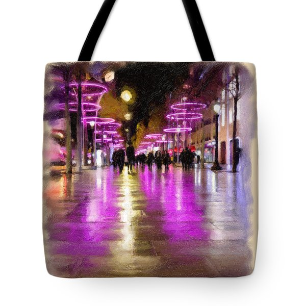 Champs Elysees In Pink Tote Bag by Angela A Stanton