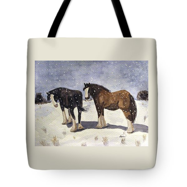 Chance Of Flurries Tote Bag
