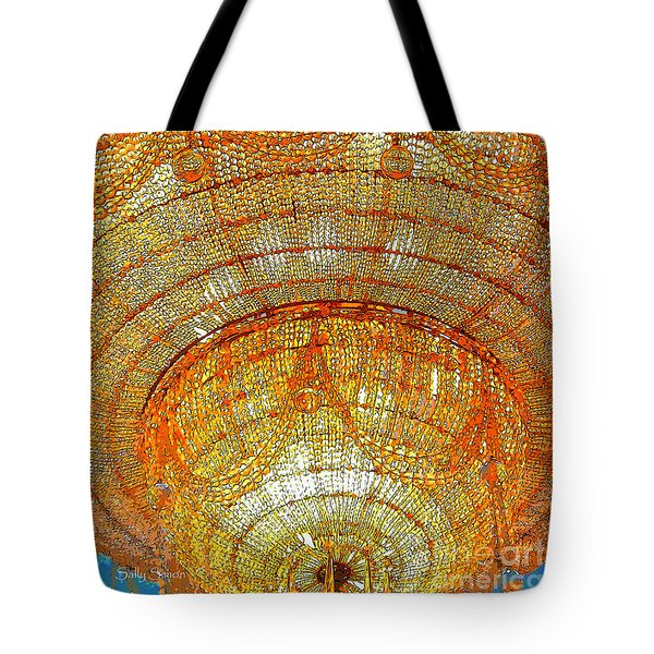 Tote Bag featuring the photograph Chandelier 1 by Sally Simon