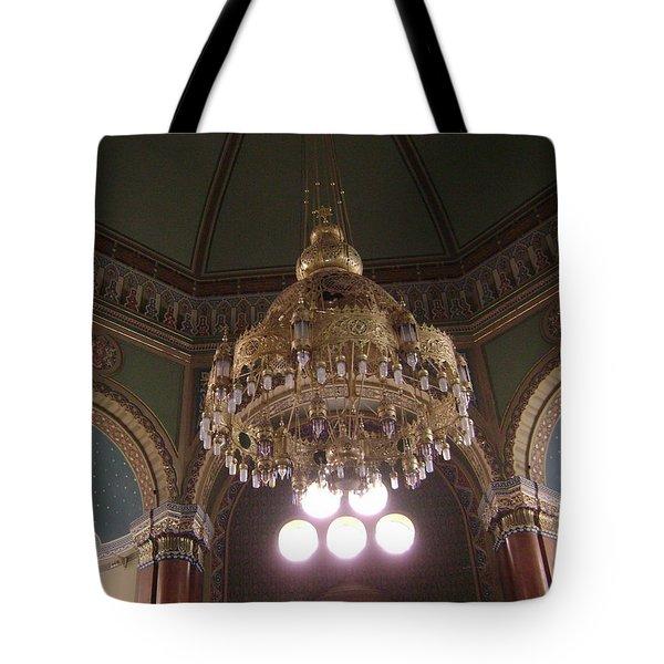 Chandelier Of Sofia Synagogue Tote Bag