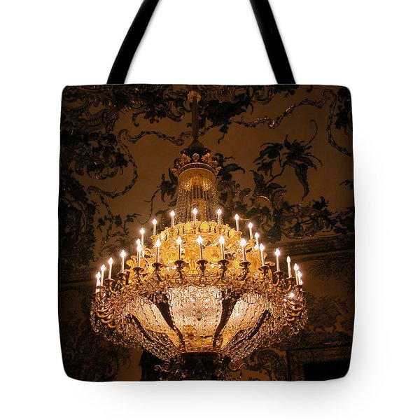 Chandelier Palacio Real Tote Bag
