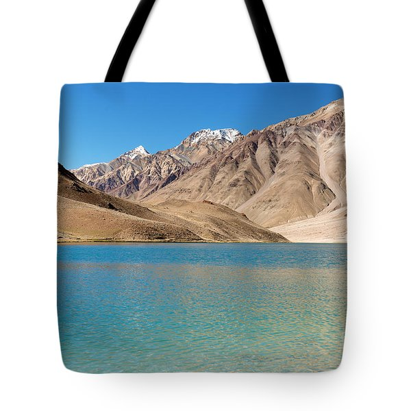 Tote Bag featuring the photograph Chandratal Lake by Yew Kwang