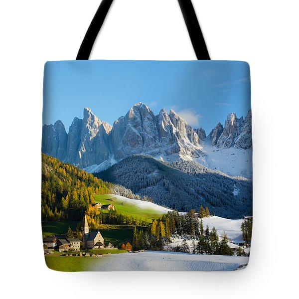 Change Of Season With Fall Turning Into Winter Tote Bag
