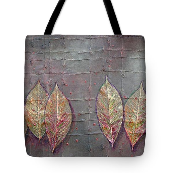 Tote Bag featuring the mixed media Changing Leaves by Phyllis Howard