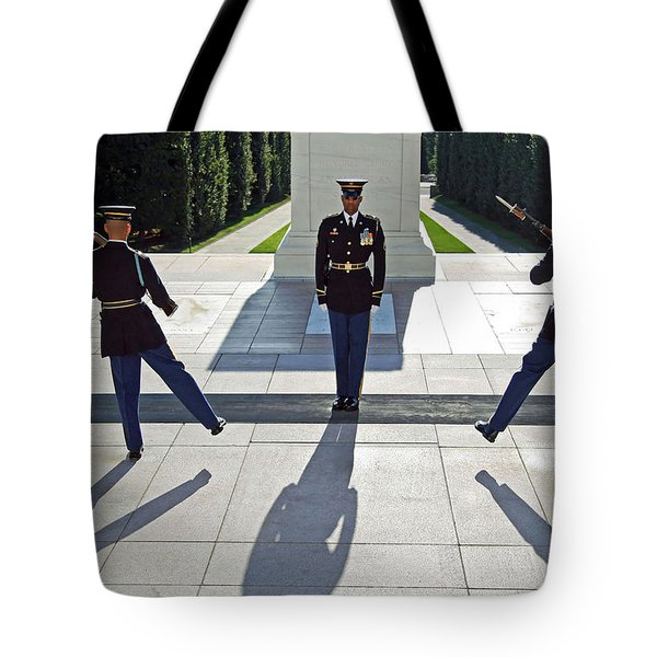 Tote Bag featuring the photograph Changing Of The Guard by Cora Wandel