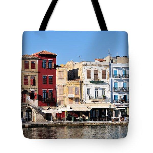 Chania City Tote Bag by George Atsametakis