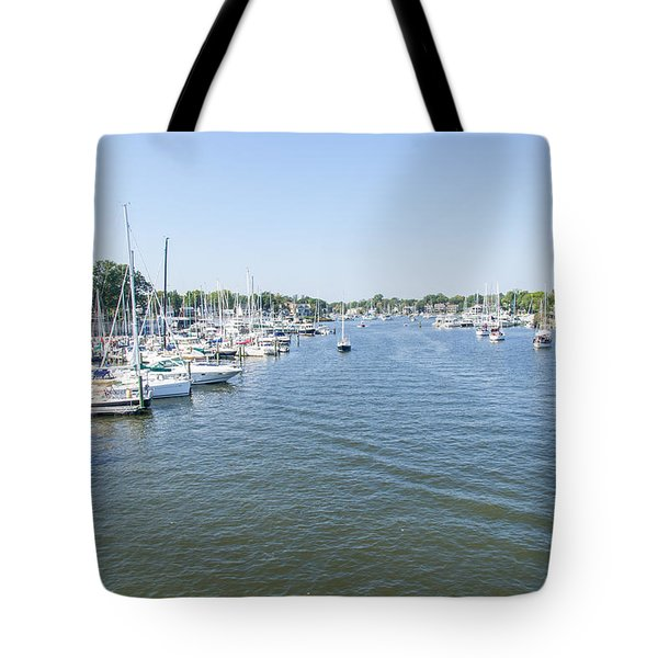 Tote Bag featuring the photograph Channel Down Spa Creek by Charles Kraus