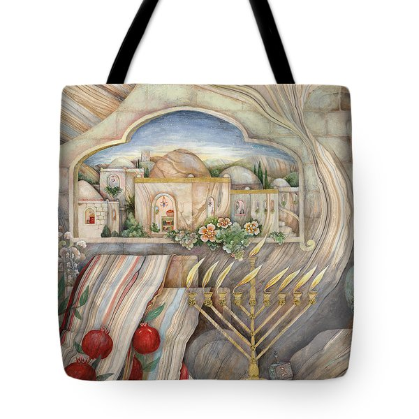 Chanukah Tote Bag by Michoel Muchnik
