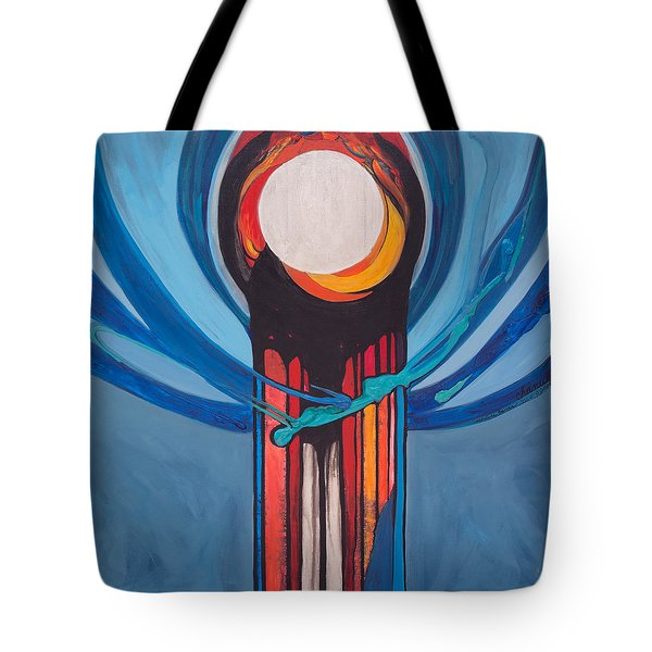 Chanukah Nes Gadol Tote Bag by Marlene Burns