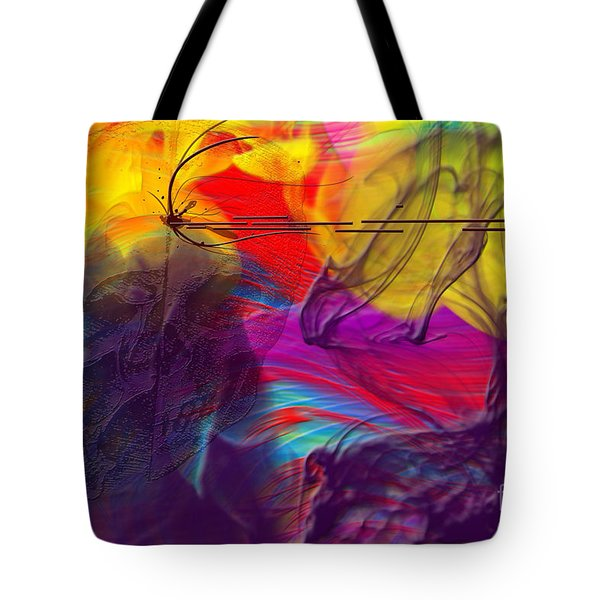 Tote Bag featuring the digital art Chaos by Clayton Bruster