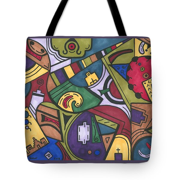 Chaos In The Hood Tote Bag by Susie WEBER