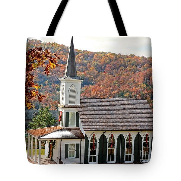 Chapel At Big Cedar Tote Bag