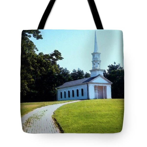 Chapel At The Wayside Inn Tote Bag by Desiree Paquette