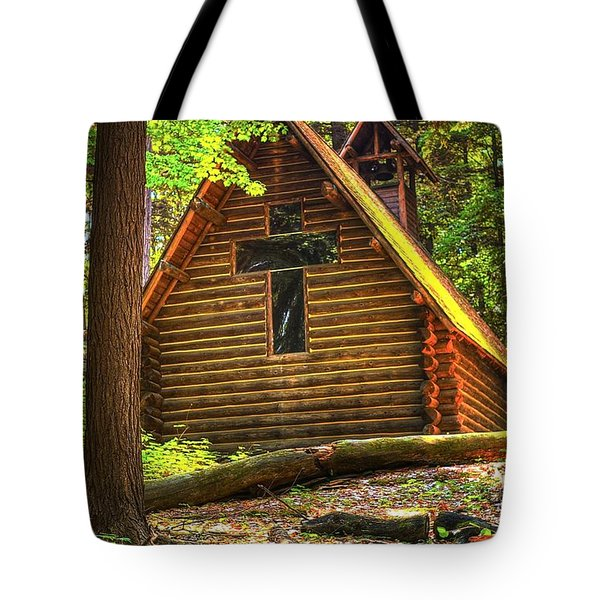 Chapel In The Pines Tote Bag