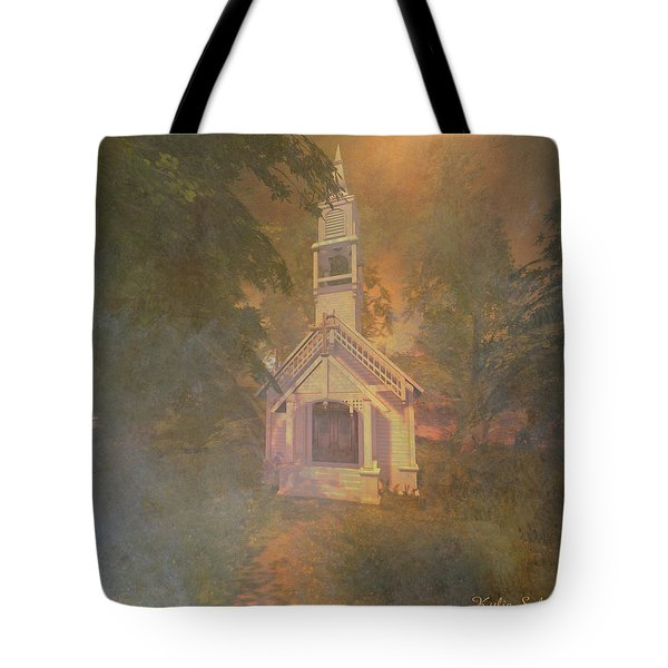 Chapel In The Wood Tote Bag