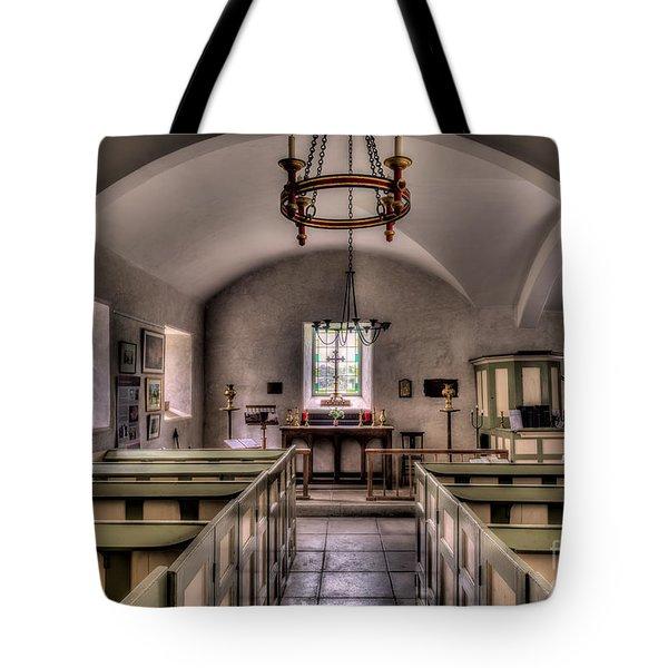 Chapel In Wales Tote Bag by Adrian Evans