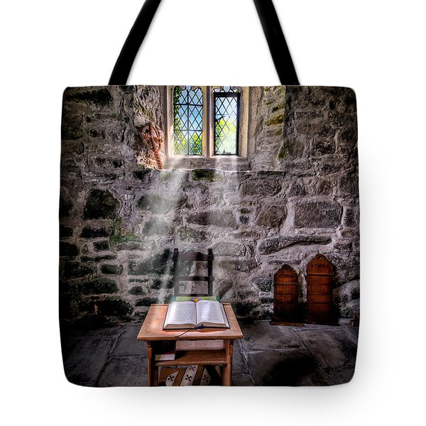 Chapel Light Tote Bag by Adrian Evans