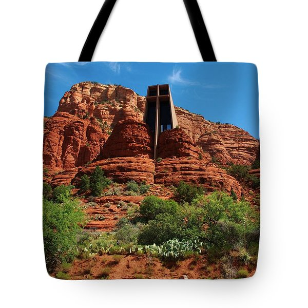 Tote Bag featuring the photograph Chapel Of The Holy Cross by Dany Lison