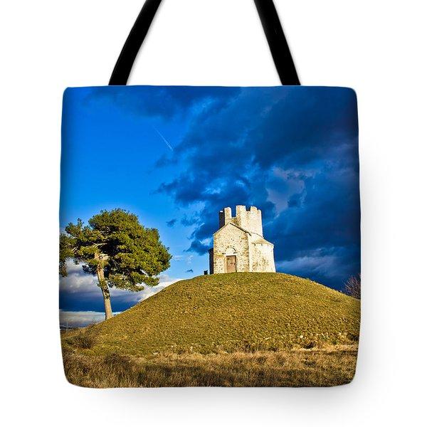 Chapel On Green Hill Nin Dalmatia Tote Bag
