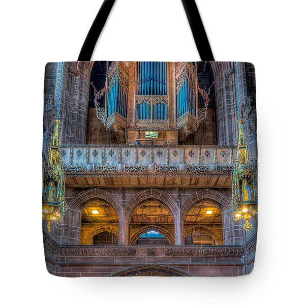 Tote Bag featuring the photograph Chapel Organ by Adrian Evans
