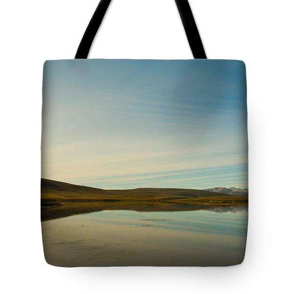 Chapman Lake Dempster Highway Tote Bag by Priska Wettstein