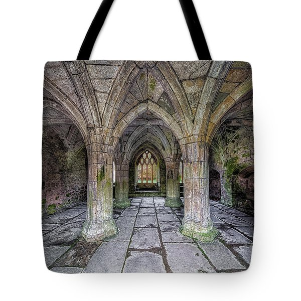 Chapter House Interior Tote Bag by Adrian Evans