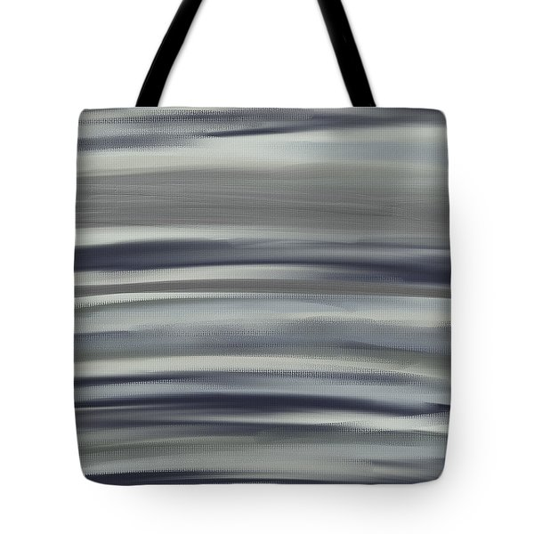 Charcoal And Blue Tote Bag