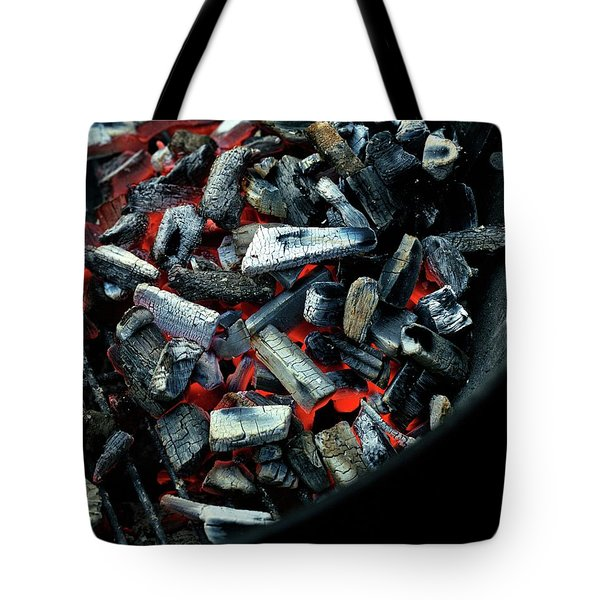 Charcoal On A Grill Tote Bag