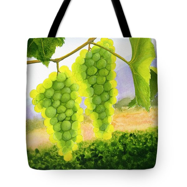 Chardonnay Grapes Tote Bag by Mike Robles