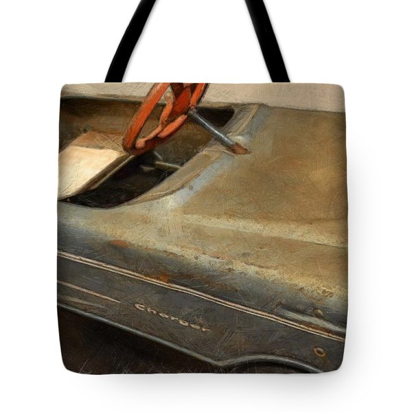 Charger Pedal Car Tote Bag by Michelle Calkins