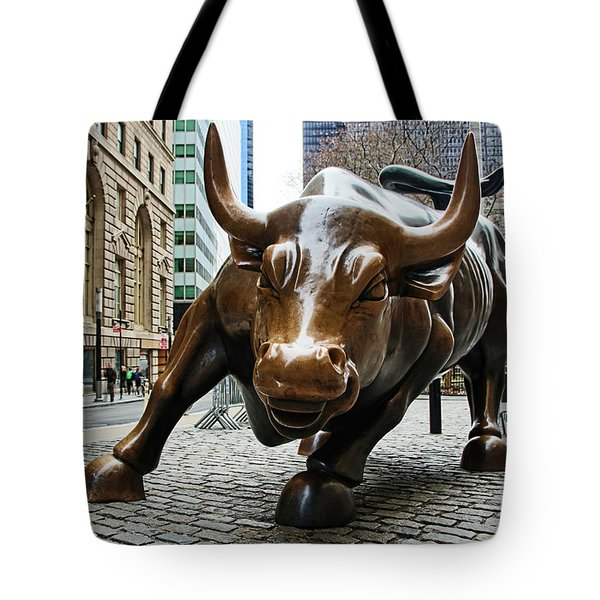 Charging Bull 1 Tote Bag by Nishanth Gopinathan