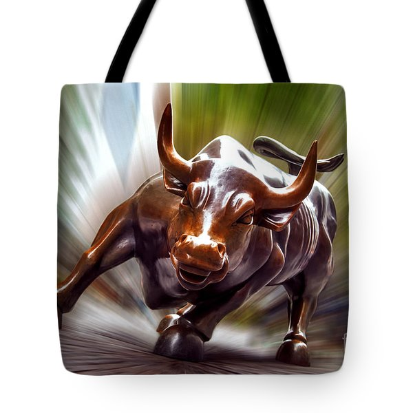 Charging Bull Tote Bag by Az Jackson