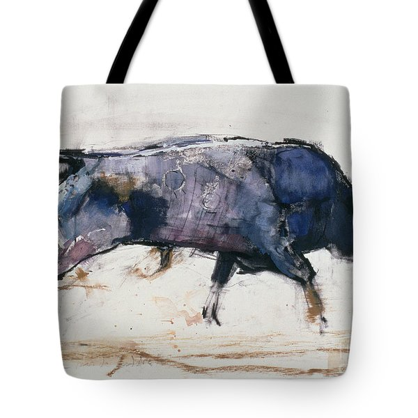 Charging Bull Tote Bag by Mark Adlington