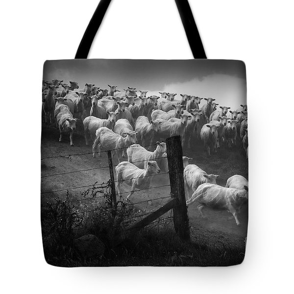 Tote Bag featuring the photograph Charging The Gate by Nareeta Martin
