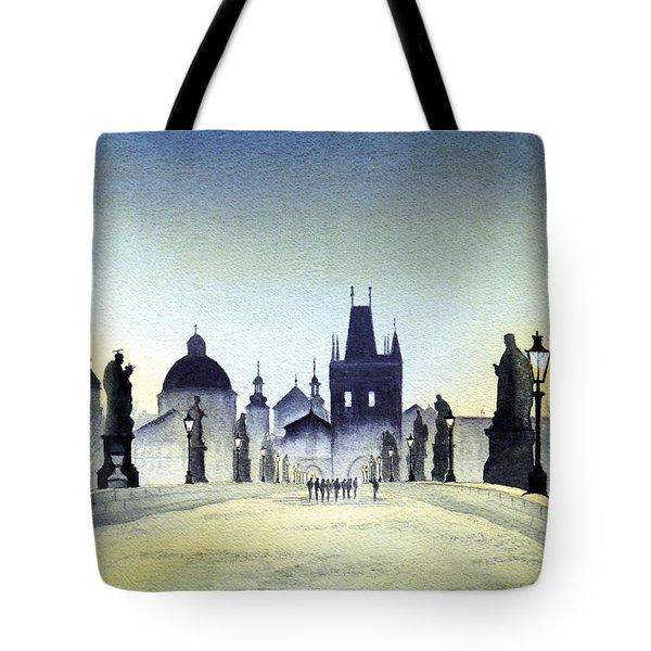 Charles Bridge Tote Bag by Bill Holkham
