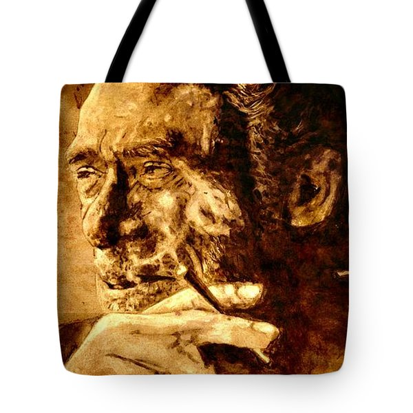 Charles Bukowski - The Love Version Tote Bag by Richard Tito