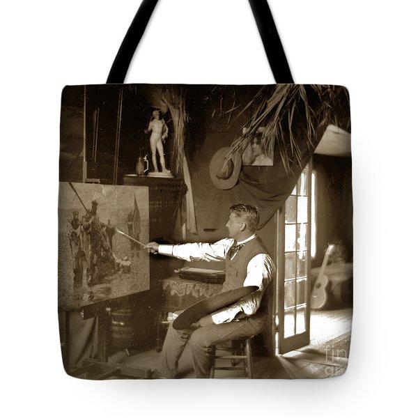 Charles Dickman Artist Monterey California Circa 1907 Tote Bag by California Views Mr Pat Hathaway Archives