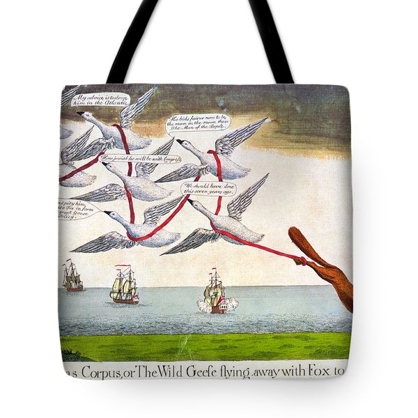 Charles Fox: Cartoon, 1782 Tote Bag by Granger