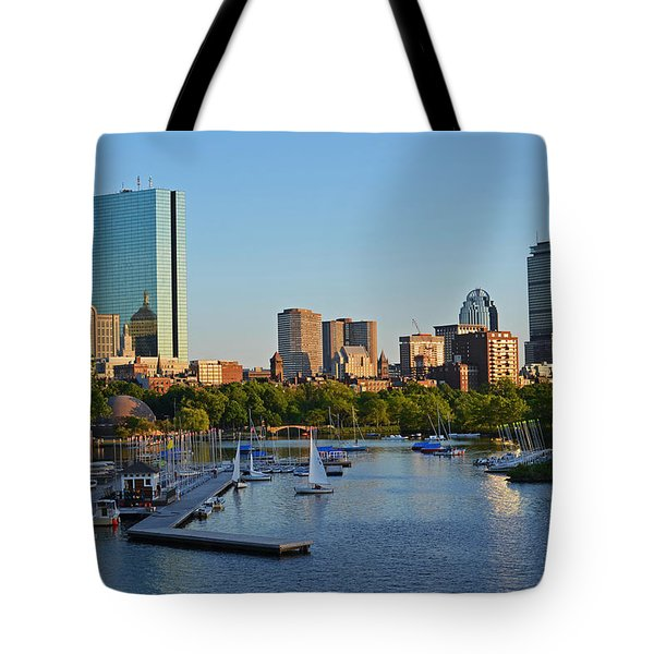 Charles River At Sunset Tote Bag