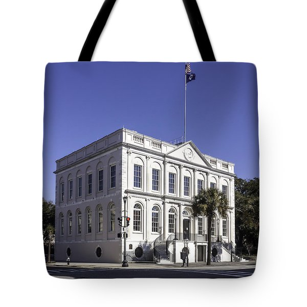Charleston City Hall Tote Bag by Lynn Palmer